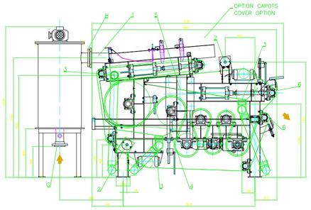 Схема ленточного фильтр пресса